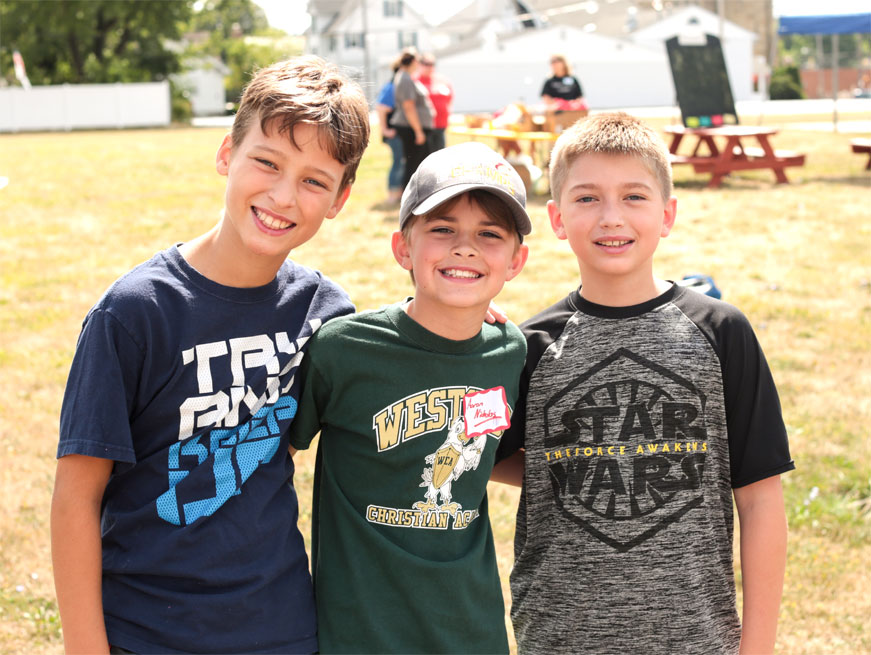 5th grade boys at Laura's Home Back to School Fair