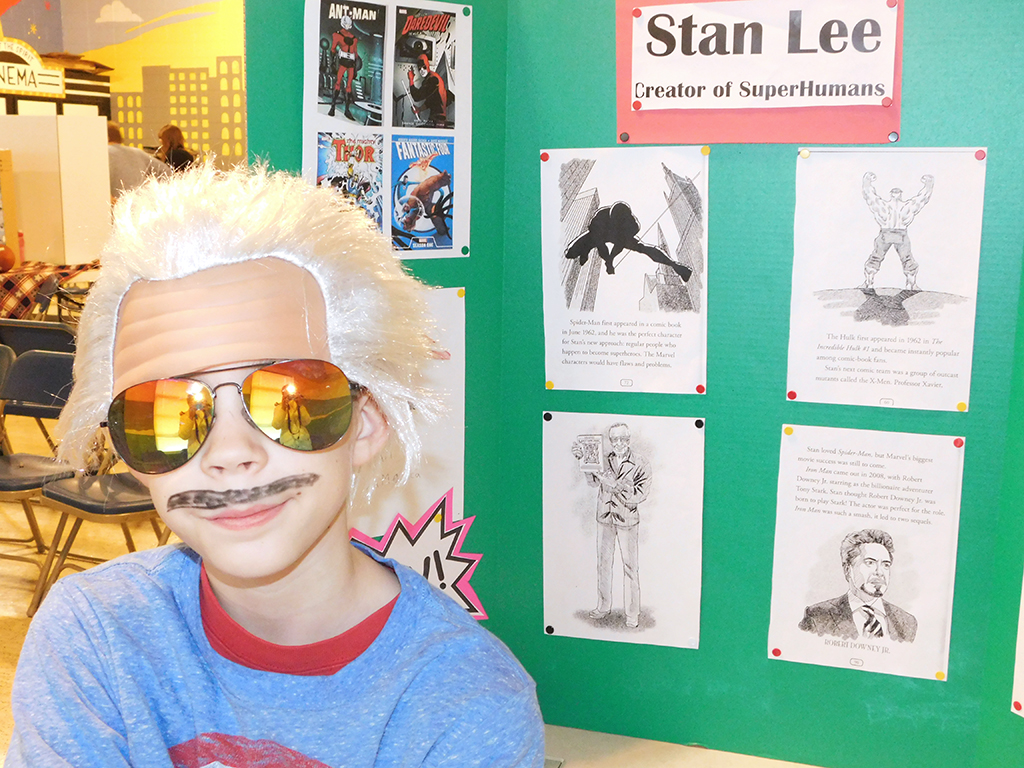 3rd Grade Wax Museum - Stan Lee