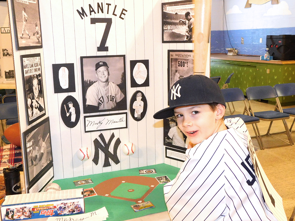 3rd Grade Wax Museum - Mickey Mantle