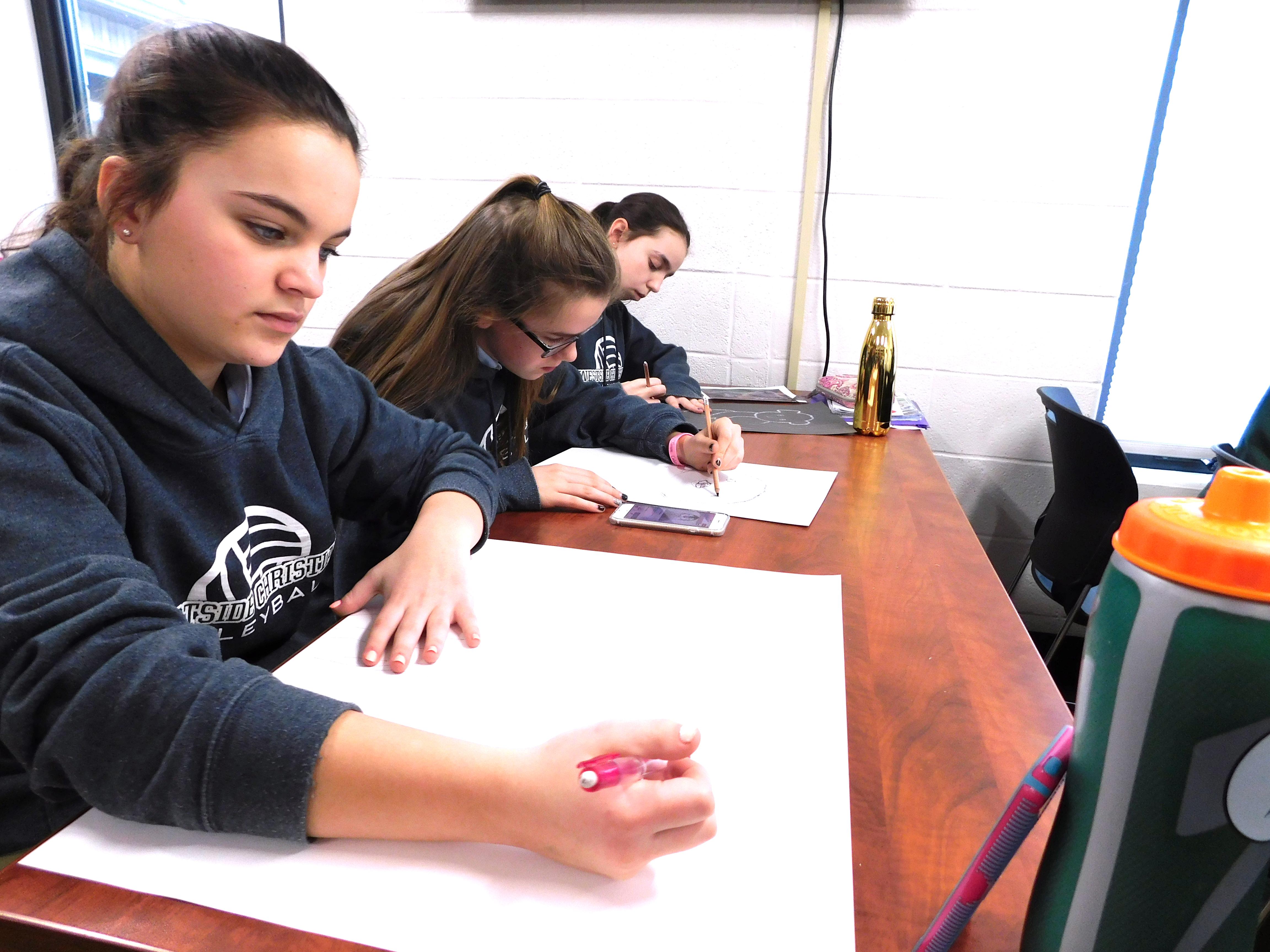 Upper School Art Class