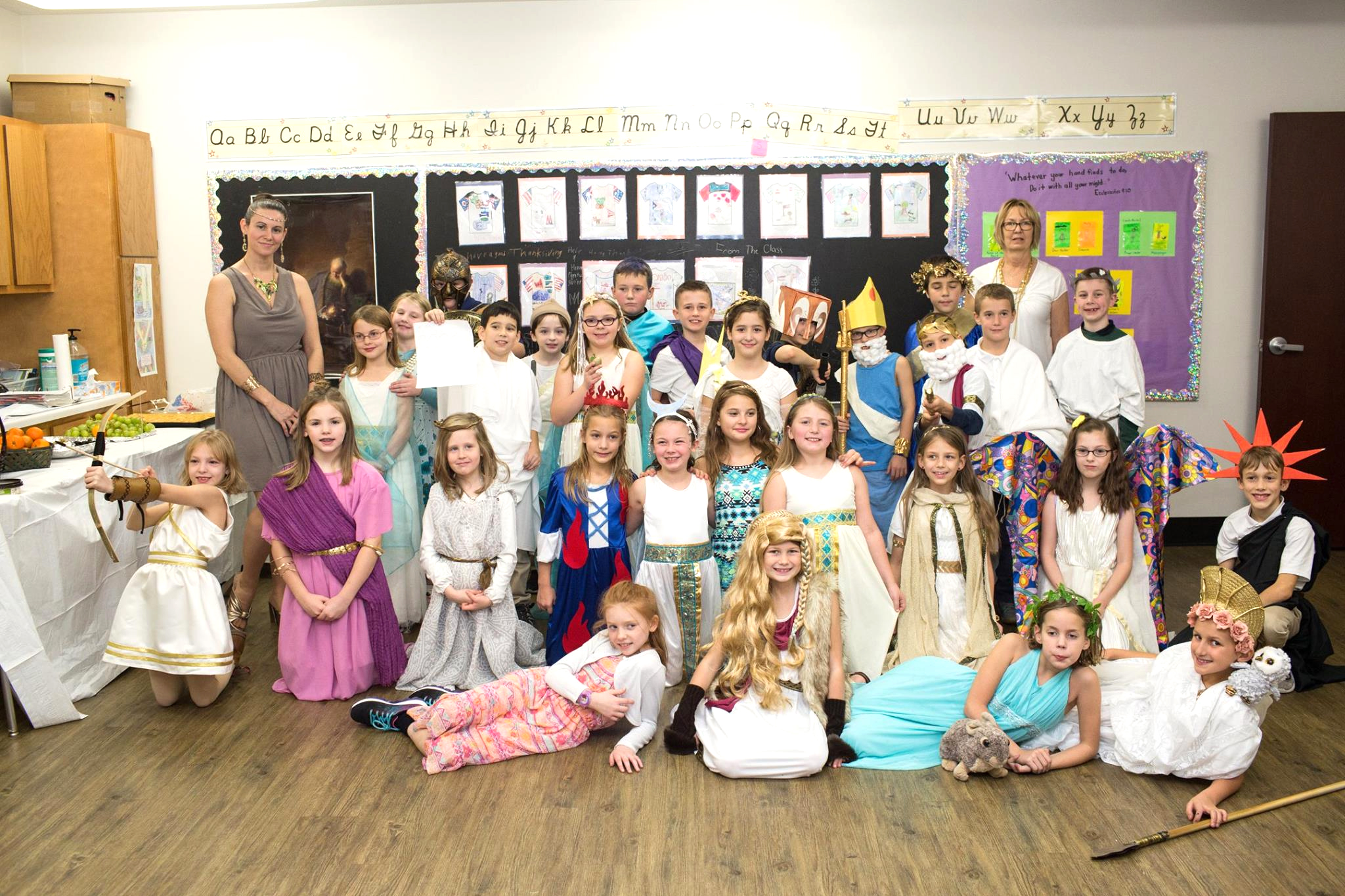 Third Grade Greek Day